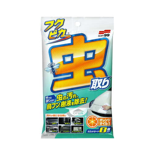 Soft99 FUKUPIKA Bugs & Droppings Removal Wipes Strong